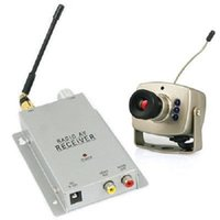 Wholesale Mini Camera Cctv Audio - Quality 1.2GHz Wireless Mini Wireless Video Audio Receiver CCTV Camera Kit