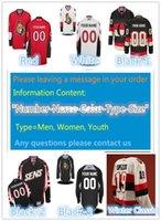 Wholesale New Full Size Black Jersey - 2016 New, Custom Ottawa Men & Youth & Women size XXS~6XL goalie cut Premier Alternate Winter Classic Personalize Hockey Jersey