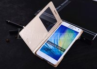 Wholesale Wholesale House Windows - Hot For Samsung Galaxy A8 A7 A5 A3 Housing Flip Leather Cover View Folio Case Open Window