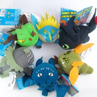 Wholesale Dragon Stuffed Doll - EMS Free shipping How to Train Your Dragon Plush Doll Soft Stuffed Toy 13-18CM Children Cartoon Toys plush stuffed doll Dolls C001