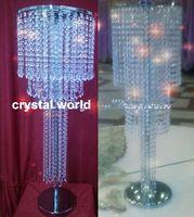 акриловые подставки для центральных частей оптовых-кристаллический acrylic 70 centerpieces для таблицы венчания, стойки искусственного цветка для украшения таблицы венчания