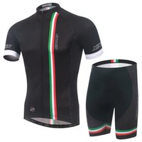 Wholesale Sports Jerseys Italy - Wholesale-2015 black color cycling wear jersey (BIB) Short culot Bicycle apparel bike jacket sport clothes run wear italy ink some size