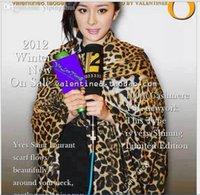 Wholesale Leopard Cashmere Gloves - Wholesale-Dongkuan big stars in Europe and America the same paragraph Yang Mi leopard leopard point cashmere scarf shawl mixed models