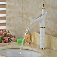 Centerset painting bathroom vanities - And Retail White Painting Solid Brass Bathroom Basin Faucet Waterfall Spout Vanity Sink Mixer Tap