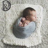 Großhandels-Handwerk Wolle Fiber Blanket Basket Stuffer Filler, Neugeborene Baby-Fotografie Hintergrund Backdrops Photo Studio Requisiten Party-Geschenk