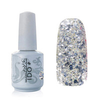 Wholesale Gel Nail Polish Ido - Wholesale-IDO Gel Polish 1853 Glitter Nail Gel Polish Soak Off UV LED Gel Polish Manicure Kit