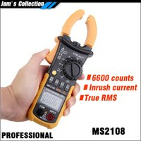 Wholesale Fluke Clamp - HYELEC MS2108 Mastech digital ammeter Clamp testing inrush current true RMS ohmmeter clamp meter equal to FLUKE F317