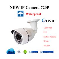 Wholesale Digital Outdoor Security - Waterproof IR-bullet IP Camera ONVIF Outdoor IP camera 720P Security Home Digital cam night surveillance CCTV camera P2P H.264