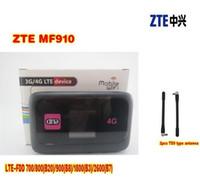 Wholesale Mobile Hotspot Zte - (+2pcs 4g antenna) LTE Pocked Wi-Fi Router ZTE MF910 Mobile Hotspot(Unlocked) English