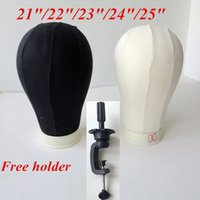 block tools - Canvas Block Mannequin Head Cork Surface Needle in Canvas Head for Wig Dispaly Black and beige hair extensions tools