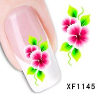 Wholesale Temporary Nail Art - Nail Art Water Sticker Nails Beauty Wraps Foil Polish Decals Temporary Tattoos Watermark + Free Shipping JIA423