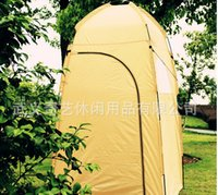 Wholesale Change Clothes Tents - Wholesale- UV protection waterproof Large Outdoor camping Bath Change Clothes Tent shower Fishing Mobile Toilet Tent free shipping