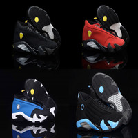 Wholesale Suede Summer Boots - 2016 Retro 14 XIII Man Basketball Shoes last shot black toe ferra thunder retro red suede Varsity Red Oxid Trainers Boots Sneaker