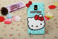 3D Cute Hello Kitty Silicone Soft Case Cover cute bowknot cat lovely Pendentif pour Smasung galaxy S3 S4 S5 S6 Note 3 Note 4 gratuit