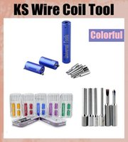 Wholesale Ks Tools - 2015 KS Wire Coil Tools 2mm 2.5mm 3mm 3.5mm oil Master Tool Kit Tools Most Innovative Universal E-cigarette Building Tool FJ064