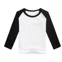 Wholesale girls plain shirts - Plain style black long sleeve shirts for girls o-neck wholesales raglan shirts children girls t-shirt dress