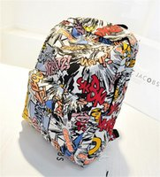 Men cartoon travelling - 2015 New women backpack jan sport backpack Casual canvas backpack men luggage travel bags Patchwork japanese school bag