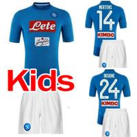 Wholesale Children Size Jerseys - size XXS to 3XL kids sets 2017 2018 Napoli Soccer Jersey 17 18 HAMSIK L.INSIGNE children Football jerseys kits uniforms Shirts