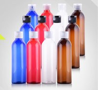 Wholesale Plastic Bottle Shampoo - 250ml PET Plastic colorful bottle Cream Shampoo FPR air freshener Refillable Portable carry out with red green blue