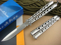 Wholesale Gift Box Knife - 60HRC Promotion Butterfly BM42 60HRC Balisong tactical Single Edge Outdoor Tactical folding knife gift knife knives new in original box