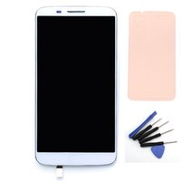 Wholesale lg g2 touch screen resale online - For LG Optimus G2 D802 D805 LCD Touch Screen with Digitizer Bezel Frame Tools Assembly White