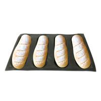 формы силиконового хлеба оптовых-Силиконовые антипригарным выпечки вкладыши хлеб плесень 4 буханка хлеб плесень формы
