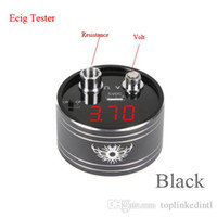 online shopping Led Dc Voltage Display - Gas Stove Knob Round Rechargeable Micro Portable Volt Meter Ohm Tester Red Led Display Module for Dc 0-12v 0-20ohm Voltage Resistance Reader