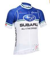 Wholesale Subaru Cycle Jersey - Wholesale-Mens Subaru Team Bicycle Jersey Short Sleeve Cycling Jerseys Breathable portable Cyclewear Bike Clothing Free Shipping