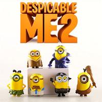 Wholesale Despicable Pendrive - Wholesale-New 2015 Despicable Me 2 Minions 6cm Cartoon Figure Toys,6pc sets pendrive minions mcdonalds minions toys