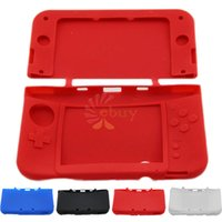 Wholesale Red Nintendo 3ds - Wholesale-New Silicone Soft Gel Protection Case Cover Skin Rubber for New Nintendo 3DS LL, Red