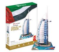 Wholesale Burj Al Arab 3d Puzzle - Wholesale-Burj Al Arab CubicFun 3D educational puzzle Paper & EPS Model Papercraft Home Adornment for christmas birthday gift