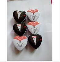 Wholesale Bride Wedding Tin Box - Hot Bride groom Mint tin wedding favor box 200PCS LOT dressed to the nines wedding candy box free shipping