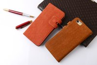Wholesale Dollar Iphone Case - Wallet Leather Case For iPhone 6 Plus 4G4s5c5s samsung S4S5 s6 note23 s4mini Stand Grid Holster Credit Card Cash Dollar Photo Holder 1 pcs