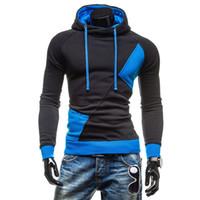 Wholesale Drawstring Jacket - Men's Spring & Autumn Hoodies Fashion Casual Slim Plus Sizes Patchwork Pullovers Drawstring Cap Creed Hoodies Sweatshirt Outerwear Jackets