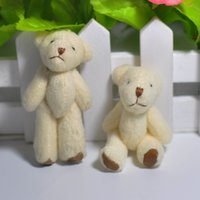 Wholesale Teddy Bears Bouquets - 6CM mini stuffed animals cute Teddy Bear toy for the children Bouquet jewellery accessory gift Mini Urso De Pelucia Oso