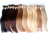 "Wholesale Indian Micro Loop - Wholesale- 14"" - 24"" 1g s 100g lot 100s lot Micro Loop Hair Extensions 1# 1B# 2# 4# 6# 27# 99J# 27# 613# dhl free shpping"