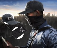 Zubehör Masken Brillen 2016 Spiel Watch Dogs 2 WD2 Marcus Holloway Cosplay Unisex Schwarz Gesichtsmaske Dedsec Hut Cap Party Halloween