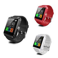 u8 smart watch box оптовых-Bluetooth U8 Smart Watch Наручные часы с высотомером для iPhone 6 Samsung S6 Note 5 HTC Android-телефон в подарочной коробке