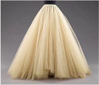 mehrschichtige kleider großhandel-Lange Röcke eine Linie überlagert Tulle Tutu Röcke Bodenlänge nach Maß Größe Plus Size Party Prom Erwachsene tragen Frühling Herbst Billig Kleid