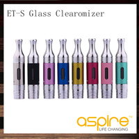 ets spulen großhandel-Aspire ETS BVC Glas Clearomizer ET-S BDC Glasomizer 3 ml Aspire ETS Zerstäuber Mit BVC BDC Spulen Kopf