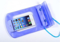 Wholesale Iphone 4s Camera Cases - Underwater Waterproof Watertight Case Outdoor Pouch Dry PVC Bag Camping For iPhone 4 4S Mobile Cell Phone Camera Mp3 4