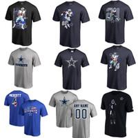 Wholesale Witten Bryant - Men's american football DALLAS COWBOY #4 Dak Prescott 21 Ezekiel Elliott 82 Jason Witten 9 Tony Romo 88 Dez Bryant 97 Taco Charlton T-s