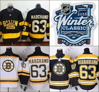 Wholesale 63 Style - Boston Bruins 2016 Winter Classic Jersey #63 Brad Marchand Black All Stitched New Style Jerseys Cheap Wholesale ,Fast Delivery