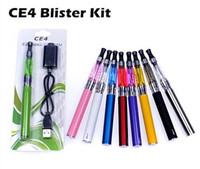 Wholesale E Cig L Kit - Ego Ce4 starter kit CE4 atomizer Electronic cigarette e cig kit 650mah 900mah 1100mah EGO-T battery blister card Clearomizer E-cigarette l