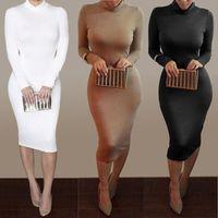 Wholesale New Sexy Hot Women - 2016 New women dress sexy club party dress fashion long sleeve bodycon dresses hot sale bandage dresses Vestidos