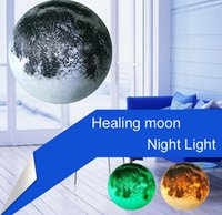 Wholesale Moon Room Wall Light - Moon In My Room Healing Moon Night Light Bedroom Wall Lamp + Remote Control Lifelike 3D led Lighting
