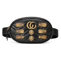 Wholesale Quilted Black Purse - freeship new women famous brand waist bag with Metal animal chain shoulder bags luxury designer handbags high quality quilted purse bags