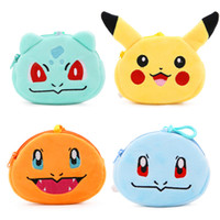 Wholesale A4 Shorts - Hot Cute Cartoon Animal Coin Purses Anime Manga Coin Bags Plush Pendant Girls Creative Chirstmas Gifts High Quality Coin Case A4