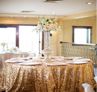 Wholesale Christmas Table Cloth Purple - Sequins Table Cloth Custom Made High Quality Wedding Decorations Table Skirting Party Birthday Supplies 2016 Sequined Table Cloth
