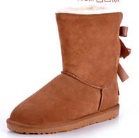 ingrosso le donne di prua-2016 Stivali da donna di promozione natalizia Stivali BAILEY BOW 2014 NUOVI stivali da neve per donna